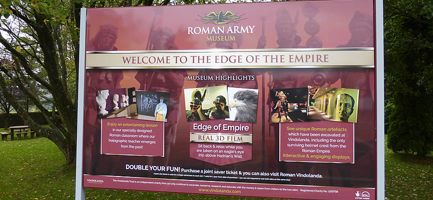 Image: the Roman Army Museum is easy to visit from Braeside, Northumberland Holiday Cottage.