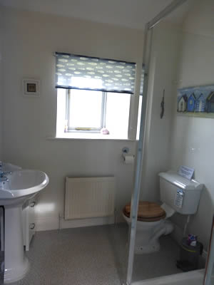 Image: The bathroom of Stanegate holiday accommodaion near Greenhead, Northumberland/Cumbria border.
